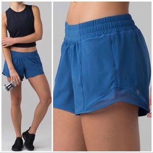 """Lululemon Hotty Hot Shorts 4"""" Royal, 6"""